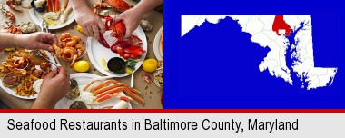 Eating A Seafood Dinner Baltimore County Highlighted In Red On Map